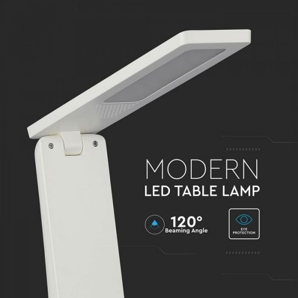 4W LED Table Lamp White   Silver