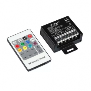 LED RGB Controller with 20 Key RF Remote Control - Small