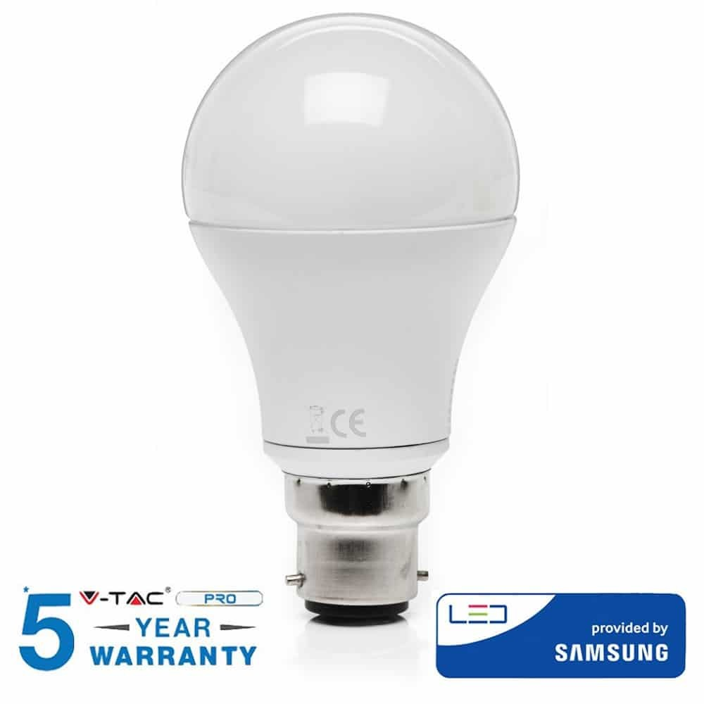 11W A60 LED PLASTIC BULB WITH SAMSUNG CHIP 3000K B22