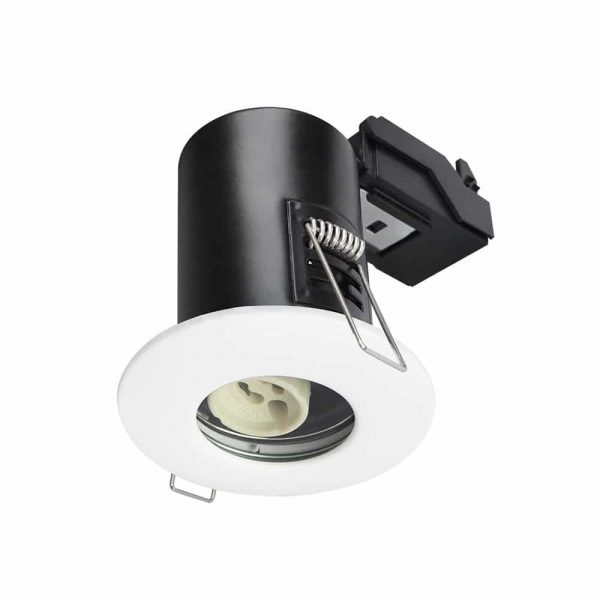 GU10 Shower Downlight Fire Rated Fitting IP65 White