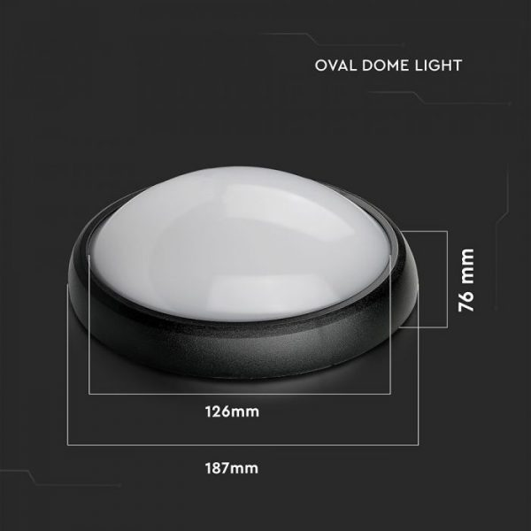 8W LED Bulkhead Light Oval Round IP54