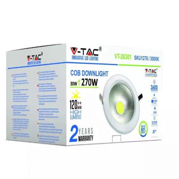 30W LED Reflector COB Downlight - High Lumens