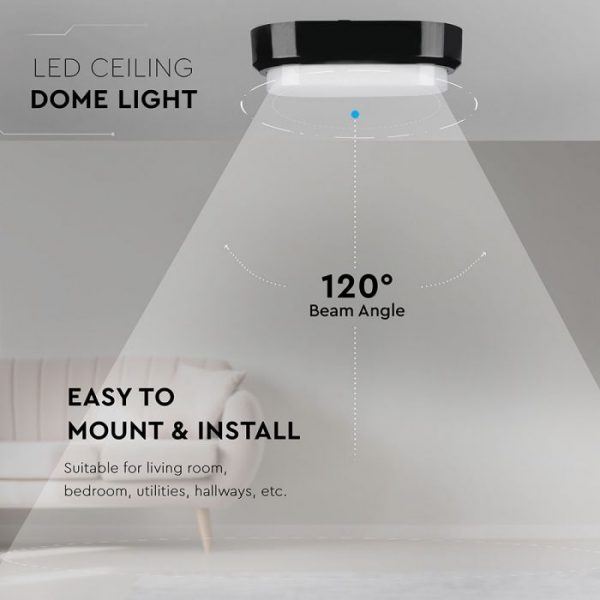 8W LED Bulkhead Light Rectangle Oval Black Body IP54