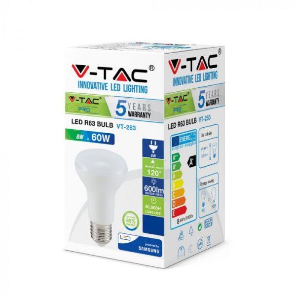 8W R63 LED Bulb - E27