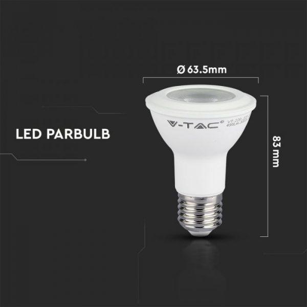 7W LED Plastic Bulb PAR20 E27 Samsung Chip