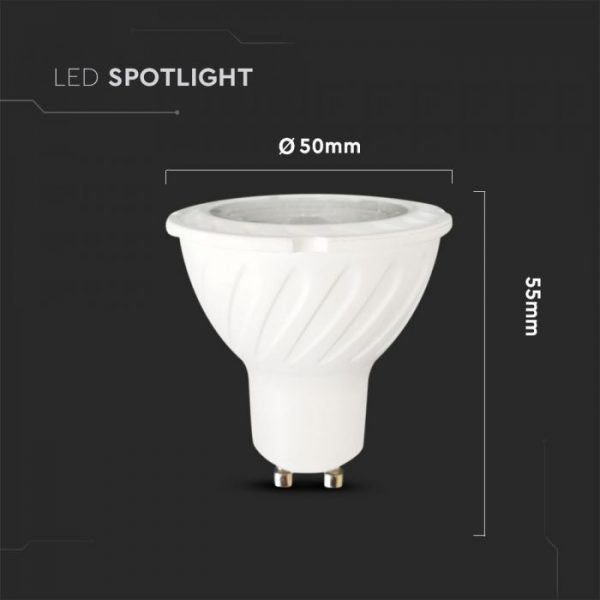 6.5W GU10 Ripple Plastic Spotlight 38° Dimmable