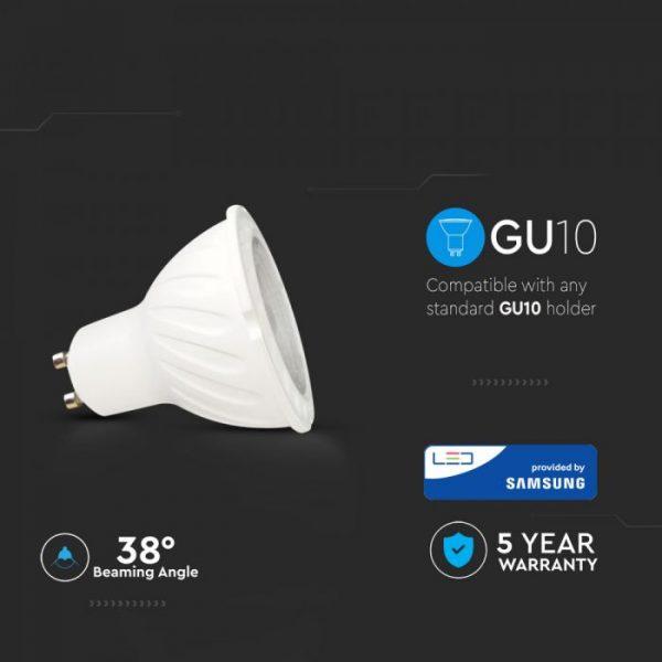 7W GU10 Ripple Plastic Spotlight 38°