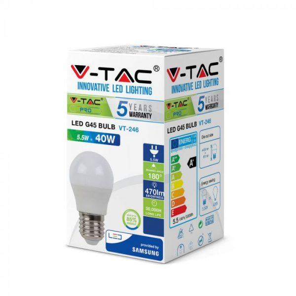 5.5W LED Bulb Golf Ball G45 E27