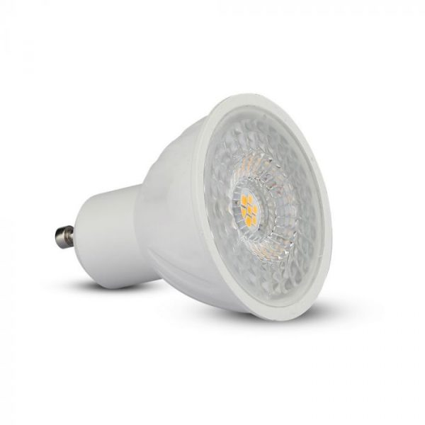6.5W GU10 Ripple Plastic Spotlight 110° Dimmable