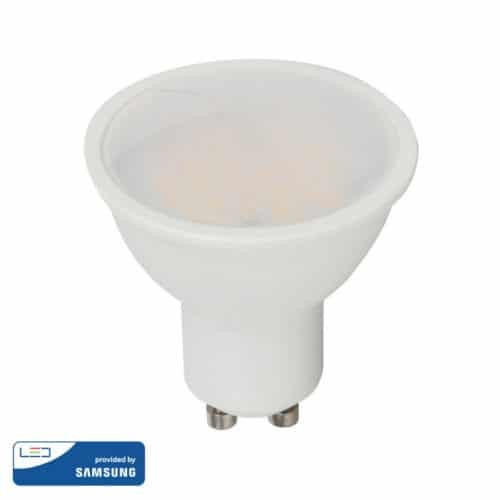 LED Spotlight 5W GU10 SMD White Plastic - 110 degree