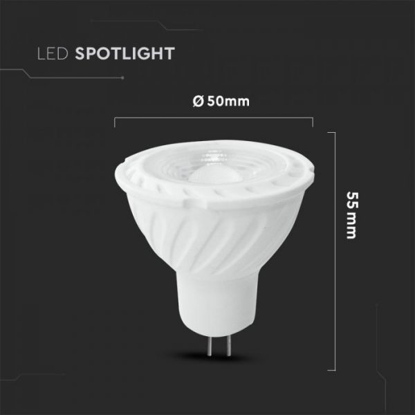 6.5W MR16 Ripple Plastic Spotlight GU5.3 110° Clear Lens