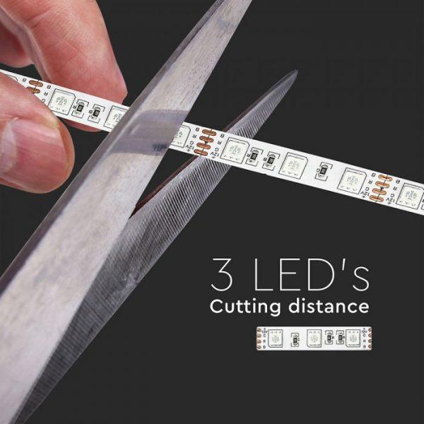 10.8W LED Strip RGB & All Colours - 60 LED's IP20 12V - 5m Reel SMD5050
