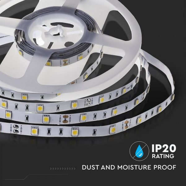 4.8W LED Strip 30 LED's IP20 12V - 5m Reel SMD5050
