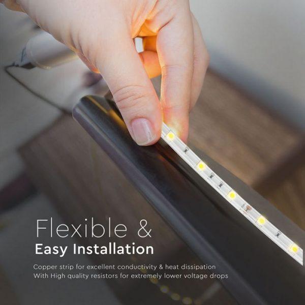 4.8W LED Strip 30 LED's IP65 12V - 5m Reel SMD5050