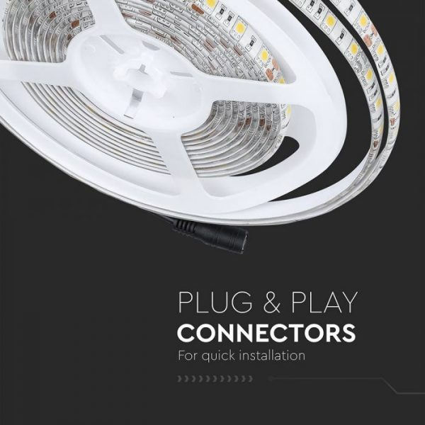 10.8W LED Strip 60LED's IP65 12V - Waterproof 5m Reel