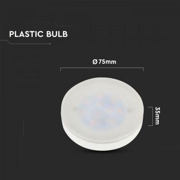 7W LED Plastic Spotlight GX53