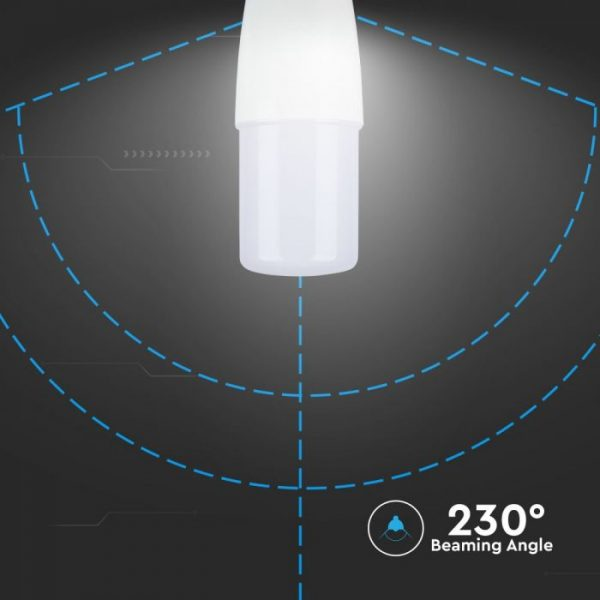 8W LED Plastic Candle Bulb T37 - E14