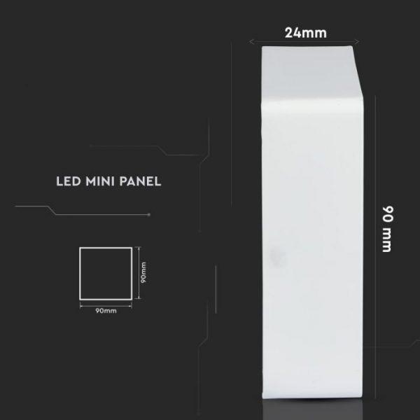 6W Led Slim Surface Panel - Square