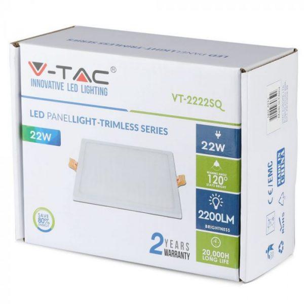 22W LED Trimless Panel - Square