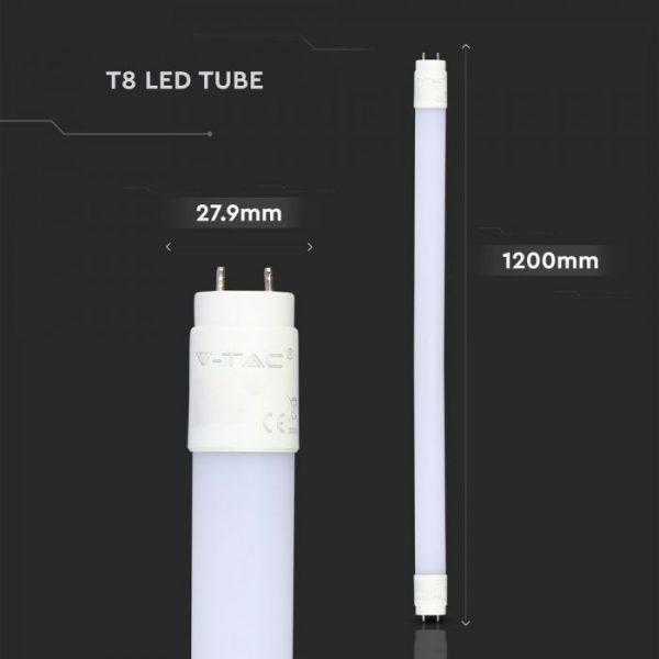 LED Tube Samsung Chip 120cm 18W T8 Nano Plastic Non Rotatable