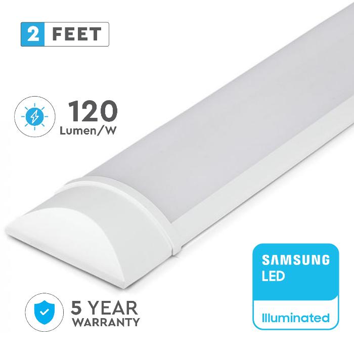 20W LED Batten Fitting, Prismatic, Slim, with SAMSUNG CHIP - 2ft (60CM)