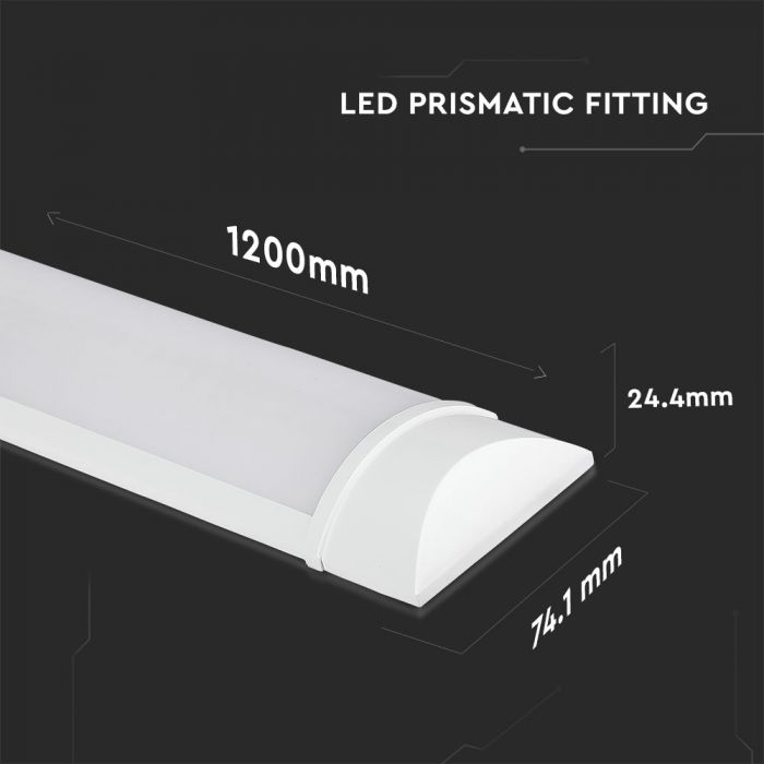 40W led batten fitting / garage lighting Size