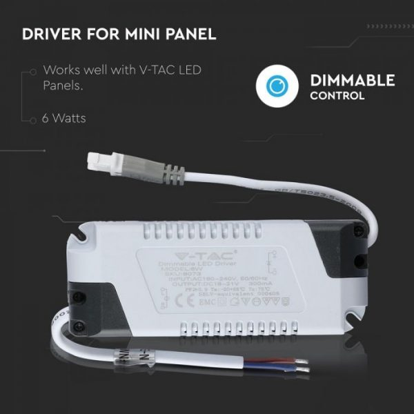 6W Dimmable Driver for LED panel