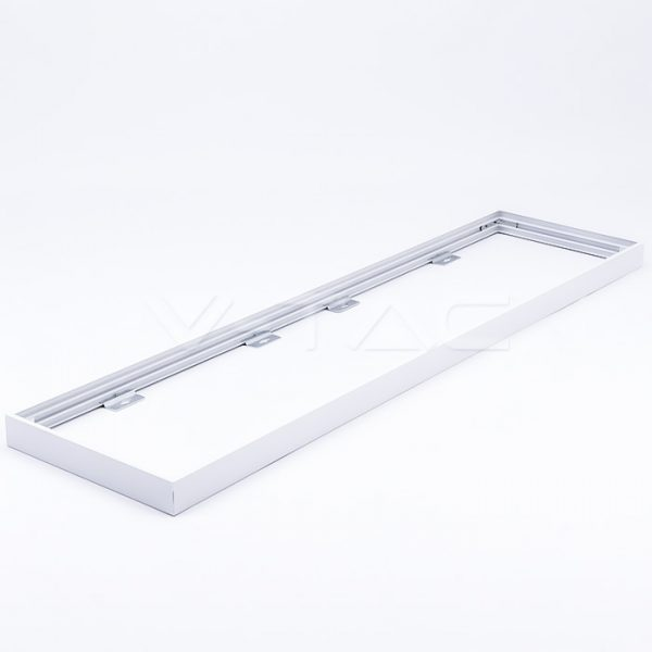 1200x300 Surface Mounting Metal Frame for LED panels - White - Foldable