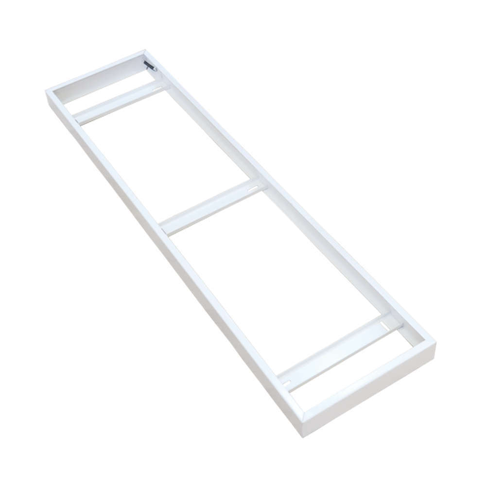 1200x300 Surface Mounting Metal Frame for LED panels - White