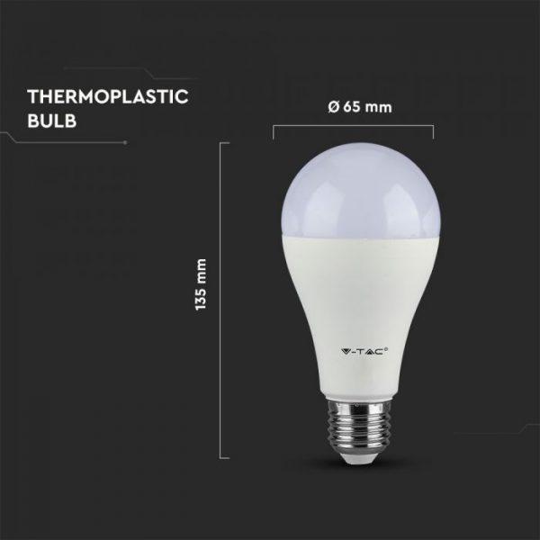 15W A65 LED Plastic Bulb Samsung Chip E27
