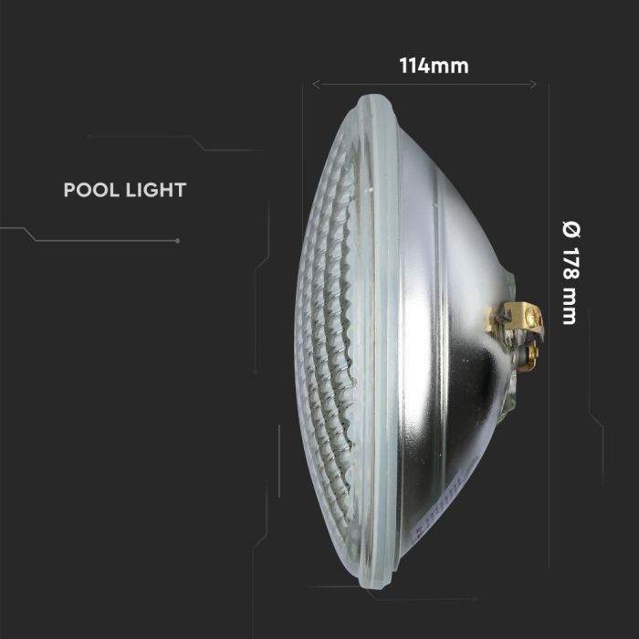 12W LED Pool Light PAR56 Glass IP68 Waterproof - Submersible
