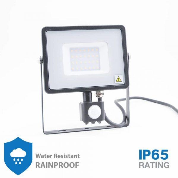 30W LED Security PIR Flood light, SENSOR SMD SAMSUNG CHIP Black Body