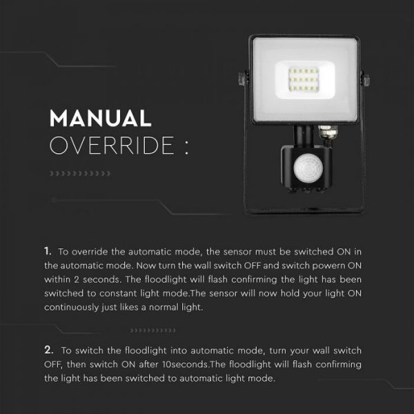 10w Flood Manual Override