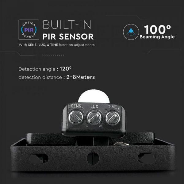 10W LED Floodlight PIR SENSOR SMD Samsung Chip Black Body