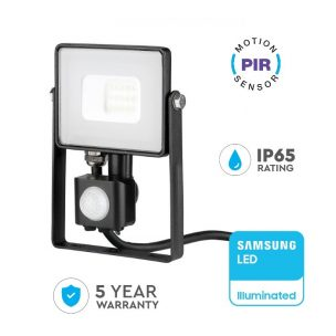 10W LED Floodlight PIR
