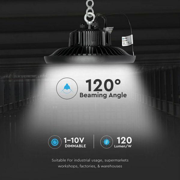 100W UFO High Bay Light (MeanWell + SAMSUNG) 120 Lm/W