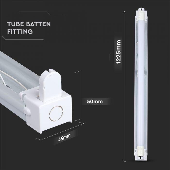 4 Feet LED Single Batten Fitting 1200mm Linear Light