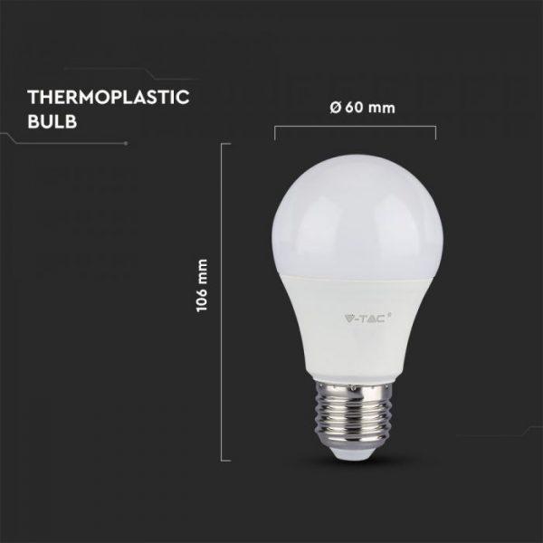 9W A58 LED Plastic Bulb Samsung Chip E27
