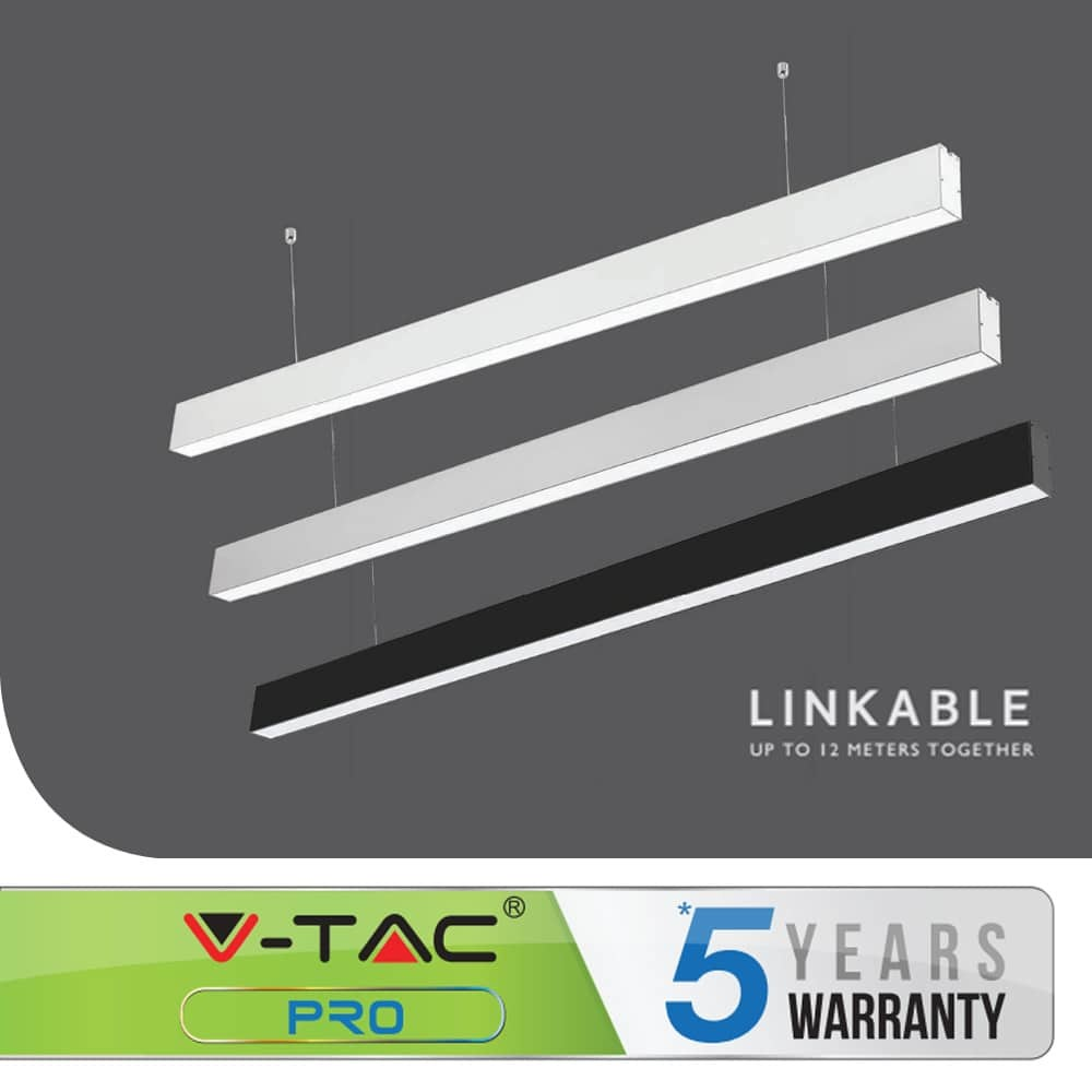 40W LED LINEAR HANGING SUSPENSION LIGHT WITH SAMSUNG CHIP LINKABLE