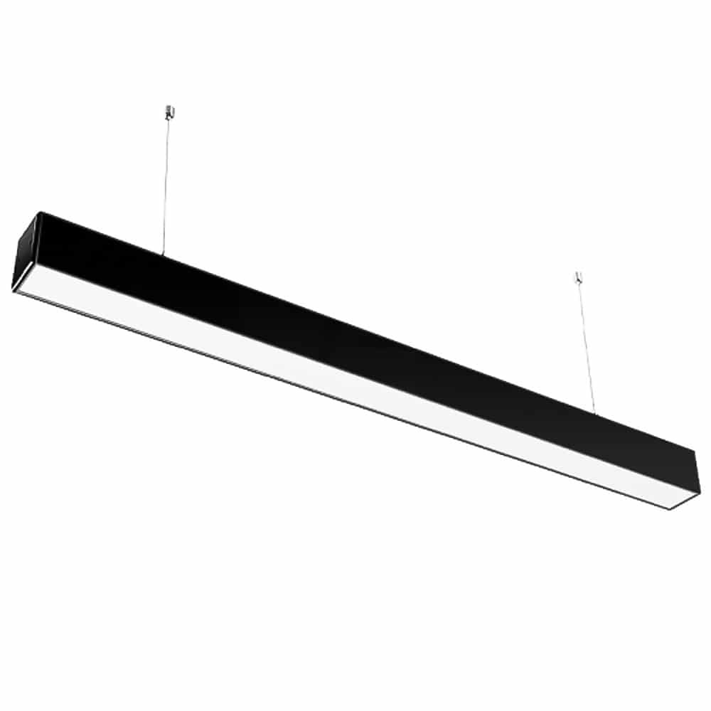40W LED LINEAR HANGING SUSPENSION LIGHT WITH SAMSUNG CHIP BLACK
