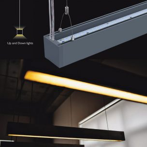 60W suspended linear led light/ led linear light ( Up and Down Lights)