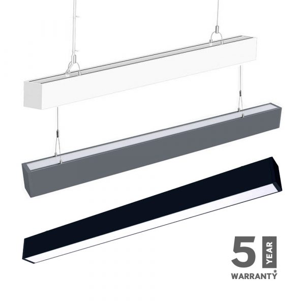 Suspended Linear LED Light 60W Up/Down SAMSUNG 120CM 1-10V Dimmable