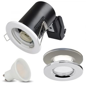 Fire Rated Downlight Fitting GU10 3W BULB IP20