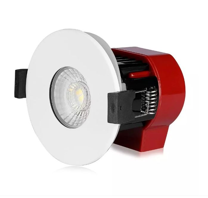 8W LED FIRED RATED DOWNLIGHT SAMSUNG CHIP CCT: 3 IN 1 dimmable