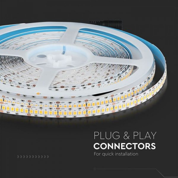 18W LED Strip 240 LED's IP20 24V - 10m Reel CRI>95, High Lumen