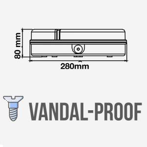 2D Bulkhead LED Light 15W Microwave Sensor  IP65 VANDAL -PROOF