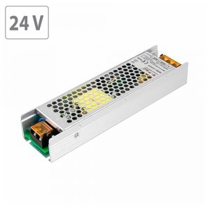 120W LED Power Supply Slim  - 24V - 5A Metal