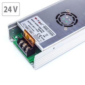 350W LED Slim Power Supply - 24V - 15A Metal
