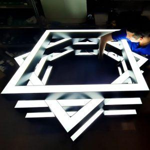 Bespoke LED Rectangle Light Suspended & Surface
