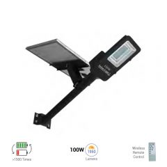 100W solar street lamp battery solar streetlight